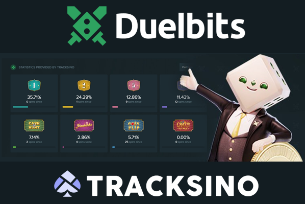 Duelbits integrates Tracksino Statistics